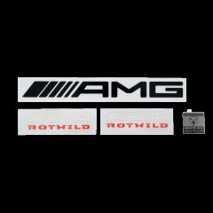 AMG ROTWILD REPLICA DEKOR AUFKLEBERSET incl. Metallplakette